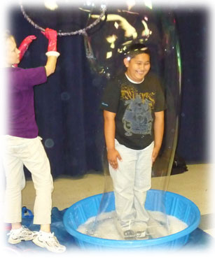 Best Bubble Party Birthday Boy In a Bubble At  Show For Kids, Children, Boys, and Girls as a Great Birthday Idea
